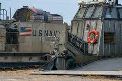 美国海洋车私人支票登陆艇气垫或LCAC舷梯缆绳  库存图片