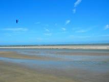 美国海滩搭乘南卡罗来纳州的风筝 图库摄影