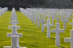 美国海滩墓地诺曼底奥马哈 免版税库存照片