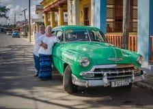 美国游人在古巴 库存图片