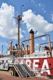 美国灯塔船切塞皮克犬LV-116在巴尔的摩,马里兰 库存照片