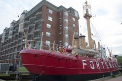 美国灯塔船波兹毛斯LV-101, VA,美国 免版税库存照片