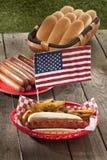 美国热狗三明治 库存照片