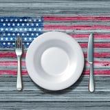 美国烹调 免版税库存图片