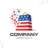 美国爱国公司商标 免版税库存照片