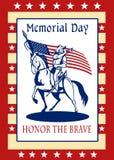 美国爱国者阵亡将士纪念日海报贺卡 免版税库存照片