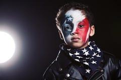年轻美国爱国者 免版税库存照片