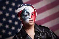 年轻美国爱国者 库存照片
