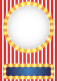 美国爱国马戏样式背景 库存图片