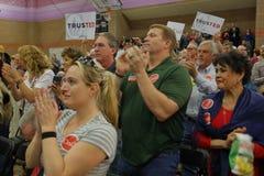 美国特德Cruz Campaigns参议员的人群在共和党内华达预备会议前的拉斯维加斯 免版税库存照片
