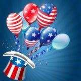美国独立日卡片 图库摄影