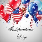 美国独立日卡片 免版税库存图片