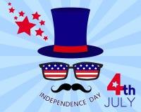 美国独立日卡片 免版税库存照片