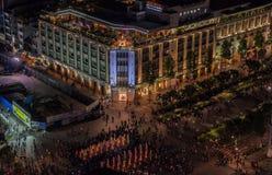 美国独立日在胡志明市,越南, 2016年9月02日 图库摄影