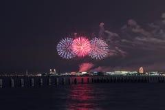美国独立日在芝加哥 库存照片