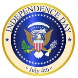 美国独立日封印 免版税库存照片