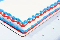 美国独立日庆祝的生日蛋糕 库存照片