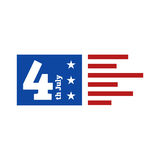 美国独立日庆祝 库存图片