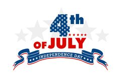 美国独立日标志 免版税库存照片