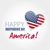 美国独立日标志 库存图片