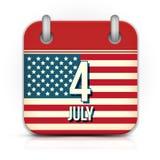 美国独立日的日历 免版税图库摄影