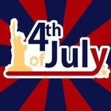 美国独立日的7月4日 图库摄影