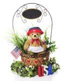 美国独立日篮子 免版税库存图片