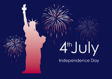 美国独立日美国传染媒介 免版税图库摄影