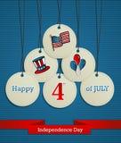 美国独立日背景 库存照片