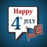 美国独立日背景 免版税库存图片
