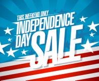 美国独立日销售横幅 图库摄影