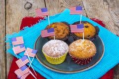美国独立日,庆祝,爱国心概念- mu 免版税库存照片