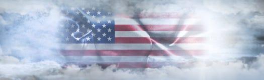 美国独立日,第4 7月 美国国旗天空 图库摄影