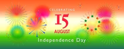 美国独立日8月第15印度 库存照片