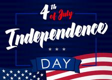 美国独立日7月第4,美国的 库存照片