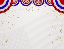 4美国独立日7月美国 与plac的抽象假日框架 皇族释放例证