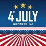 美国独立日7月,美国人四  免版税库存照片