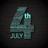 美国独立日7月4日,美国抽象背景例证  图库摄影