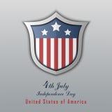 美国独立日7月4日 日愉快的独立 免版税库存照片