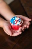 美国独立纪念日星杯形蛋糕 免版税库存照片