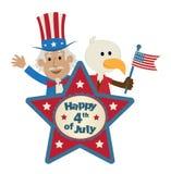美国独立纪念日标志 免版税库存图片