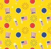 美国独立纪念日样式背景 图库摄影