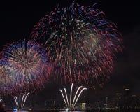 美国独立纪念日烟花纽约 图库摄影