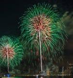 美国独立纪念日烟花纽约 免版税图库摄影