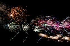美国独立纪念日烟花 免版税库存照片