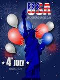 美国独立纪念日的美国独立日海报设计 免版税图库摄影
