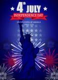 美国独立纪念日的美国独立日海报设计 免版税库存图片