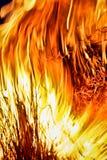 美国独立纪念日篝火 免版税图库摄影