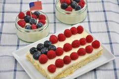 美国独立纪念日蛋糕 免版税库存照片