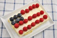 美国独立纪念日蛋糕 库存照片